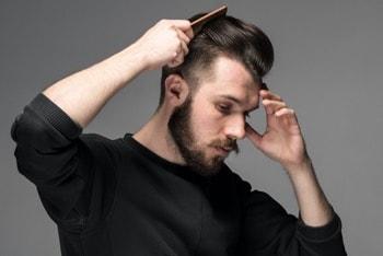 piękne włosy mężczyzny